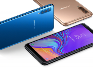 Galaxy A7 é o primeiro celular da Samsung com câmera tripla
