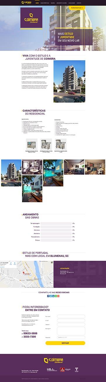 Coimbra Residencial - Landing Page - Empreendimento Construtora Hill