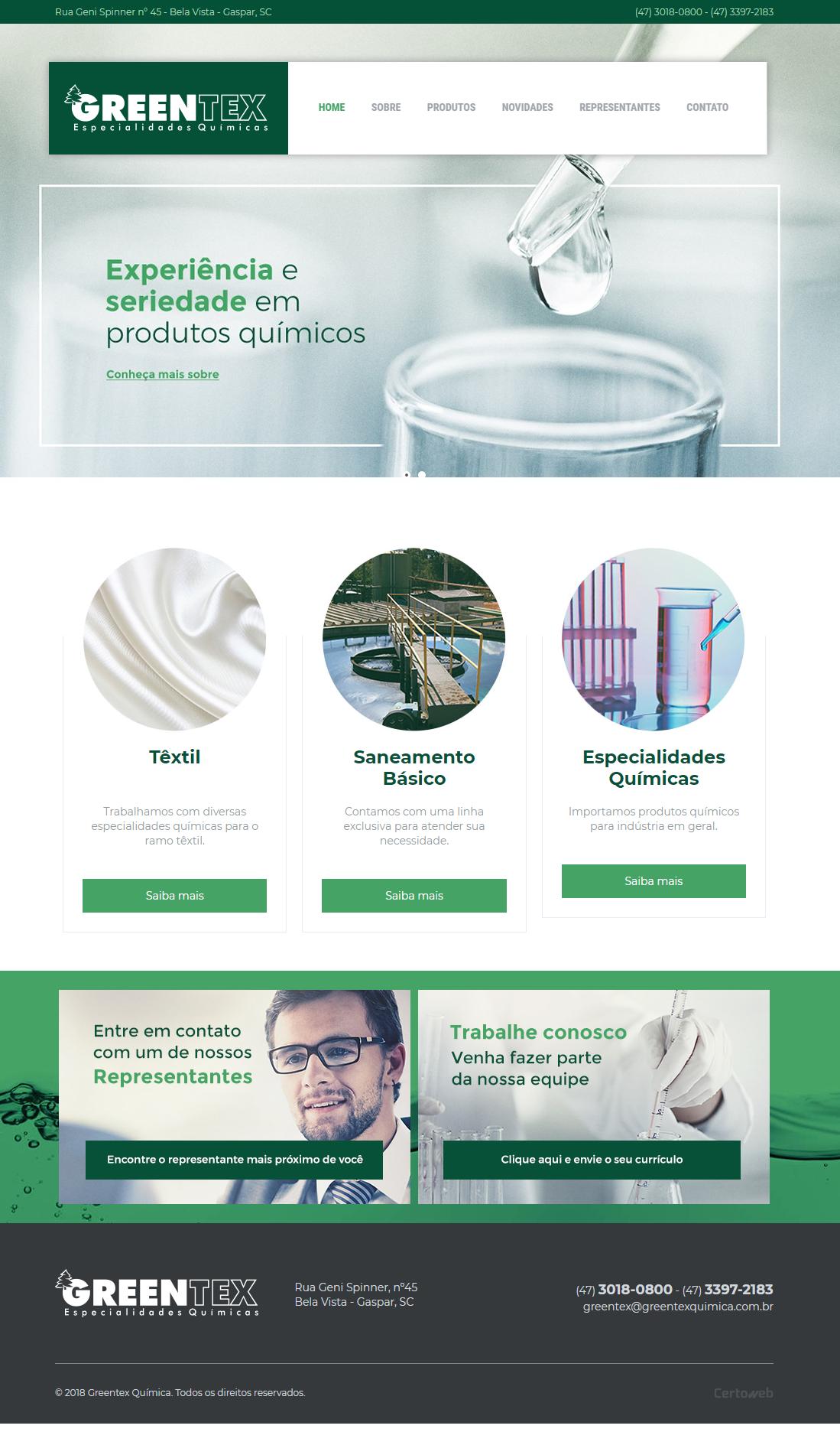 Greentex Química - Especialidades Químicas
